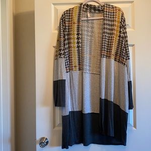 Open Front Sweater Duster